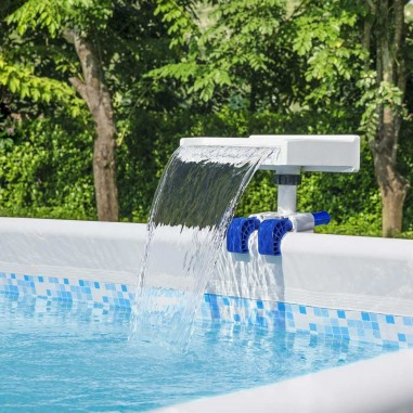 Bestway 58619 Cascata Multicolore Led Piscina Fuori Terra Soothing Flowclear